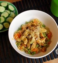 Kalakutienos ir ryžių troškinys