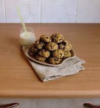 Cukinijų sausainiai su šokolado gabaliukais ir riešutais