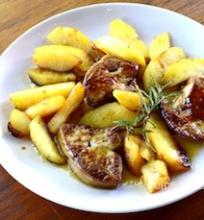 Foie gras su obuoliais