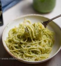 Kale pesto spagetti