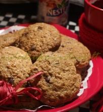 Avižiniai/kokosiniai sausainiai su šokoladu