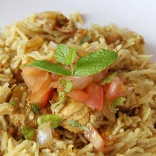 Ryžiai su Vištiena Indiškai