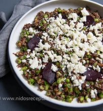 Kynvos ir sojų pupelių salotos