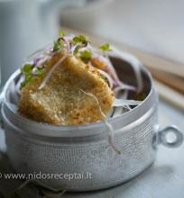 Keptas tofu su sezamais