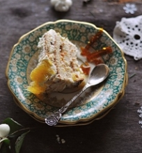 Kuršėnų vyniotinio tortas su mandarinais