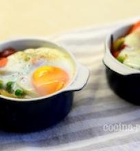 Kiaušiniai su daržovėmis