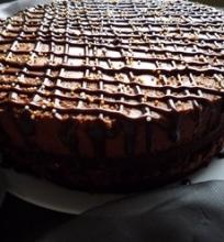Šokoladinis tortas gimtadieniui