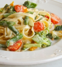 'Tagliatelle' makaronai su daržovėmis