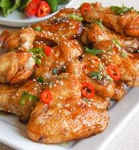 Saldūs vištienos sparneliai