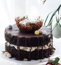 Riešutinis tortas su morengais