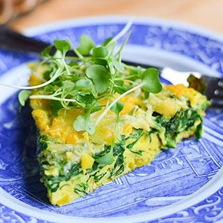 Špinatų ir sūrio omletas