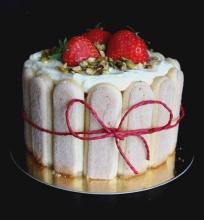 Balto šokolado ir maskarponės tortas