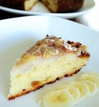 Karamelinis apverstas bananų pyragas