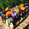 Varškės ir sausainių tortas su želė