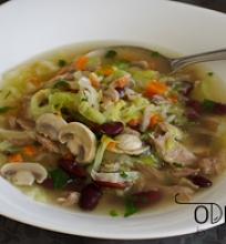 antienos sriuba su daržovėmis ir pupelėmis