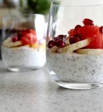Pusryčių jogurtas su chia