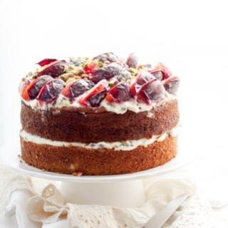 Rikotos ir alyvuogių aliejaus tortas
