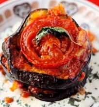Baklažanų ir pomidorų užkandis