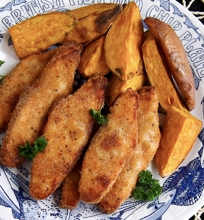 Sveikesnė žuvis su bulvėmis 'Fish & Chips'