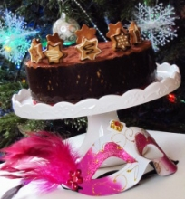 Šokoladinis karamelinis kavos tortas