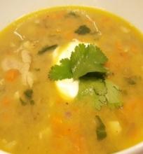 Kokosinė lęšių ir vištienos sriuba