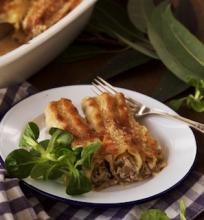 Cannelloni makaronai su grybais ir rikota