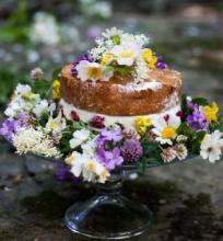 Kiaulpienių ir uogų tortas