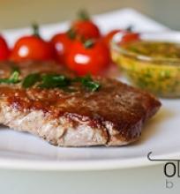 jautienos steikas su aštriuoju padažu
