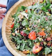 Strawberry, Black Lentil Salad