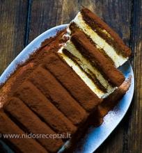 Tiramisu ledų tortas