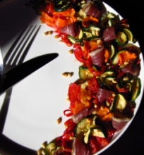 Vytintų daržovių salotos