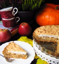 Obuolių pyragas su  morengu