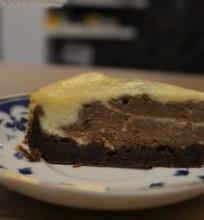 Baltojo šokolado ir kavos pyragas