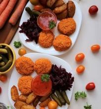 Lęšių ir morkų maltinukai