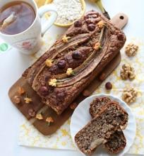 Veganiška bananų duona-pyragas