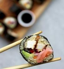 Bolivinių balandų sushi