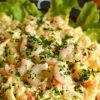 Krevečių ir bulvių mišrainė
