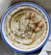 Pupelių humusas su kuminu