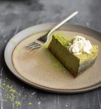 Sūrio pyragas su žaliaja arbata