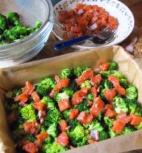Lašišos ir brokolių