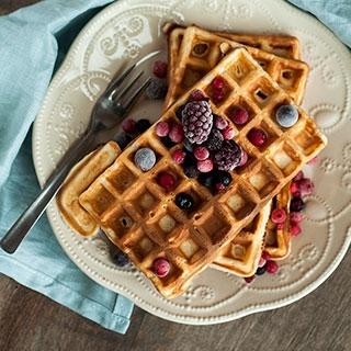 Belgiški pusryčių vafliai