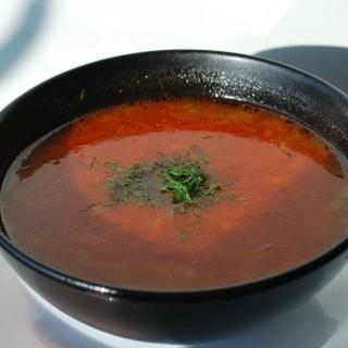 Ryžių pomidorinė sriuba