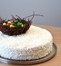 Kokosinis tortas su mangais ir pasifloromis
