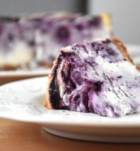 Varškės pyragas su mėlynėm ir kokosais
