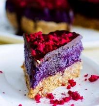 Nekeptas tortas su šilauogių marmeladu