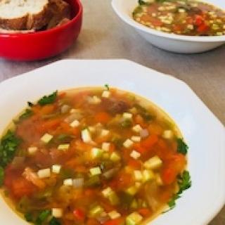 Keptų paprikų sriuba