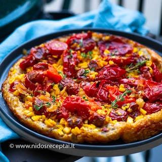 Karamelizuotų pomidorų tarta