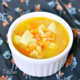 Pomidorinė ryžių sriuba