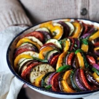 Prancūziškas daržovių apkepas