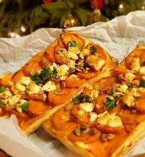 Pyragėliai su batatais ir feta